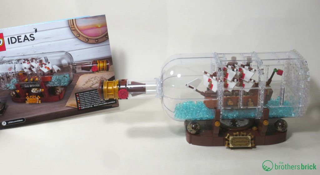 lego ship in a bottle review