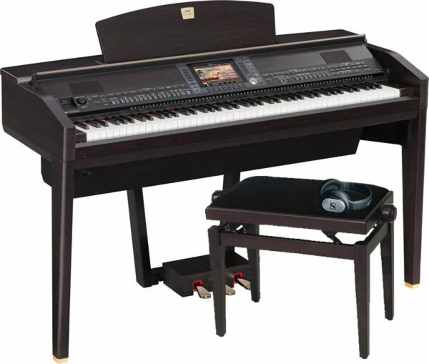 yamaha cvp 409 grand piano review