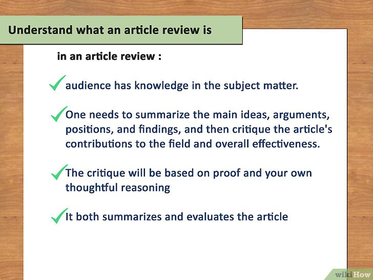 how to write a good literature review example