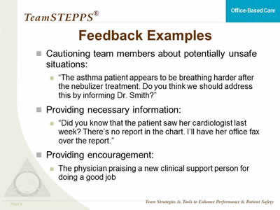 performance review constructive feedback examples