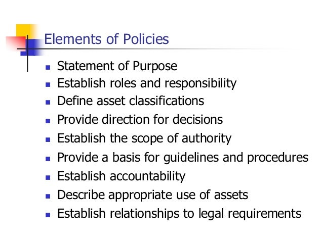 importance of reviewing policies and procedures