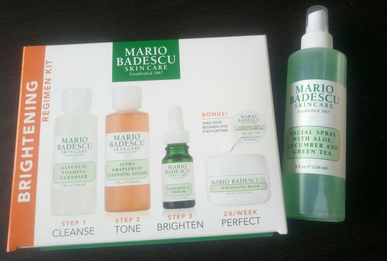 mario badescu brightening kit review